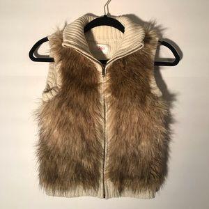 Justice girls fur vest